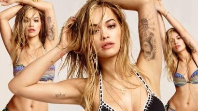 Ilyen dögös a bikinire vetkőzött Rita Ora