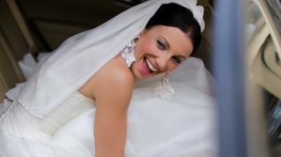 Ilyen gyönyörű menyasszonyt sem látni minden nap! Rúzsa Magdi ruhájától leesik az állad