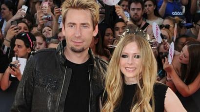 Íme az első képek Avril és Chad esküvőjéről!