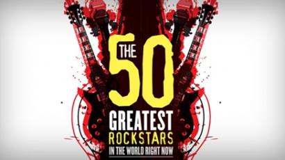 Íme, napjaink 50 legnagyobb rocksztárja