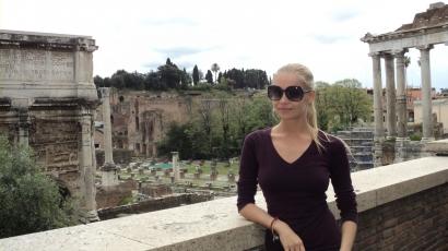 Iszak Eszti csajos hétvégét tartott Rómában