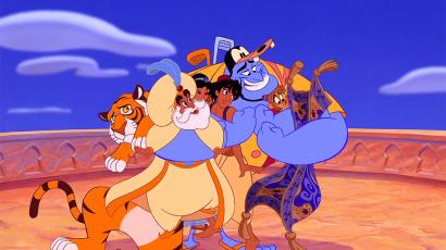 Itt az első cast szelfi az Aladdin forgatásáról