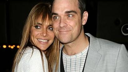Itt van Robbie Williams első esküvős képe