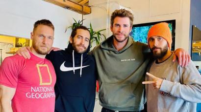 Jared Leto, Liam Hemsworth és Jake Gyllenhaal egy képen: közösen edzettek a színészek