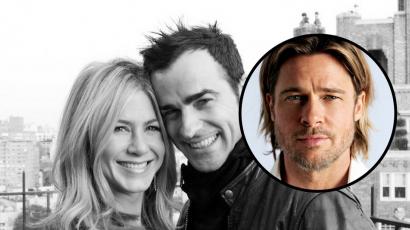 Jennifer Aniston és Brad Pitt rendszeresen beszélnek, Justin Theroux mégsem aggódik
