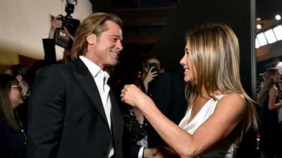 Jennifer Aniston és Brad Pitt végre egymásra talált a SAG Awardson