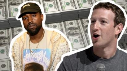 Kanye West a Facebook alapítójától, Mark Zuckerbergtől várja pénzügyi problémái megoldását