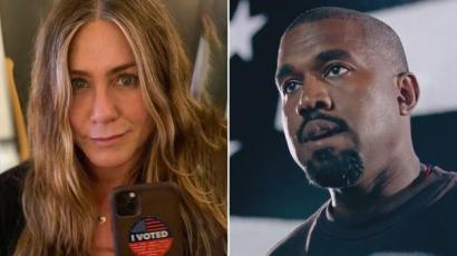 Kanye West kiakadt Jennifer Anistonre