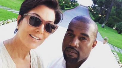 Kanye Westet még Kris Jenner sem képes kontrollálni
