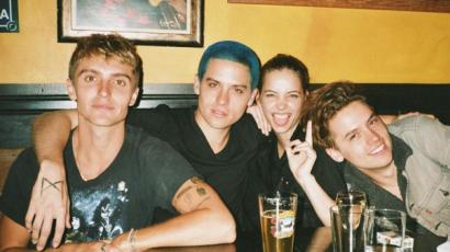 Kékre festette haját Palvin Barbi barátja