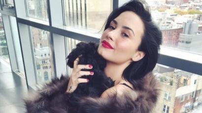 Kiakadtak rajongói a szőrmében pózoló Demi Lovatóra