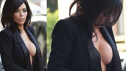 Kim Kardashian megsétáltatta a melleit