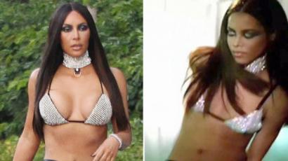 Kim Kardashiant rasszistának hívták, mert fekete sztárnak öltözött be