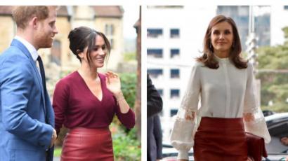 Kinek áll jobban? Meghan Markle és Letizia királyné egyforma szoknyában jelent meg