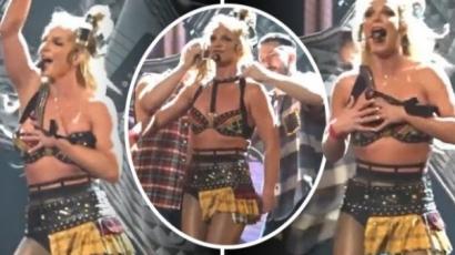 Kis híján hatalmasat villantott Britney Spears – videó