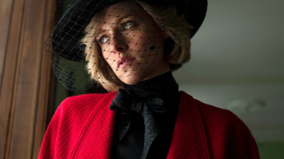 Kristen Stewart megdöbbentően néz ki, mint Diana hercegnő, a forgatáson – fotók!