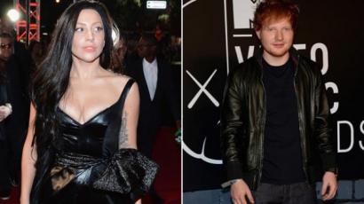 Lady Gaga kiszolgálta Ed Sheerant