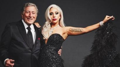 Lady Gaga óriástortával lepte meg Tony Bennettet