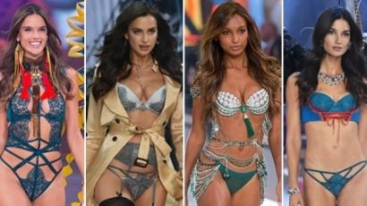 Lélegzetelállító szettekben vonultak végig a modellek az idei Victoria's Secret Fashion Show-n