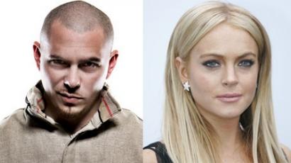 Lindsay Lohan beperelte Pitbullt