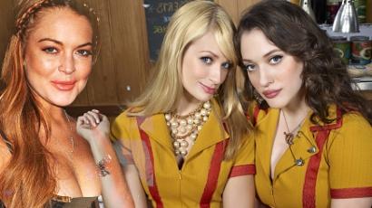 Lindsay Lohan vendégszerepel a 2 Broke Girlsben