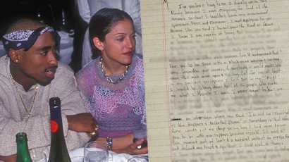 Madonna nem engedi elárverezni a Tupactől kapott levelét