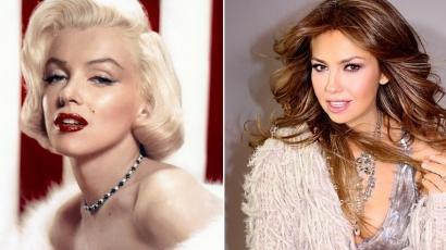 Marilyn Monroe egykori relikviáit kapta ajándékba Thalía