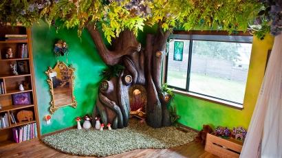 Mesebeli erdővé varázsolta lánya szobáját egy apuka