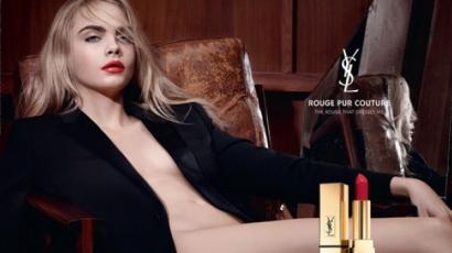Meztelenül pózol Cara Delevingne az Yves Saint Laurent legújabb kampányában