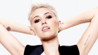 Miley Cyrus ledobta a textilt