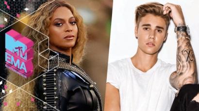 MTV EMA 2016: Beyoncé és Justin Bieber kapta a legtöbb jelölést
