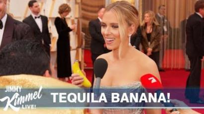 Műanyag banánból tequiláztak a sztárok az Oscar-gálán