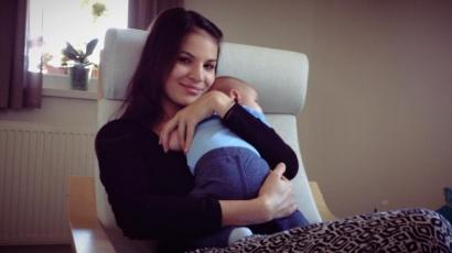 Nádai Anikó megmutatta a kisfiát