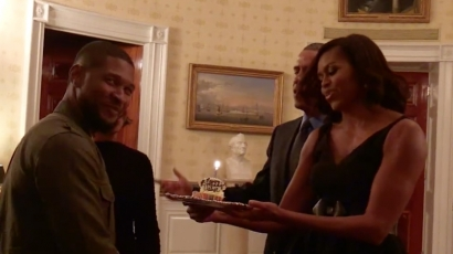 Nem mindennapi meglepetésben volt része Ushernek a születésnapján