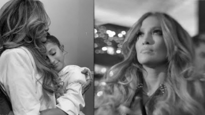 Pillanatok a fellépés előtt: így izgult J.Lo és kislánya a Super Bowlon