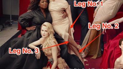 Reese Witherspoon három lábat, Oprah Winfrey három kezet kapott egy Vanity Fairben megjelent képen