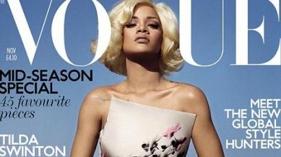 Rihanna platinaszőkén a Vogue-ban!