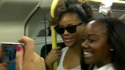 Rihanna metróval ment koncertre