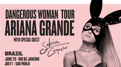Sabrina Carpenter Ariana Grandéval megy turnézni Brazíliába