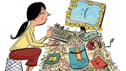 Stresszt okoz a rendetlen íróasztal