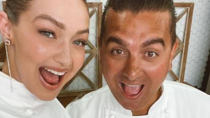 Teljesült Gigi Hadid álma: Buddy Valastróval díszített tortát