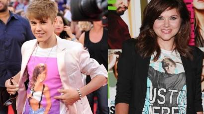 Tiffani Thiessen is Bieber-pólót húzott