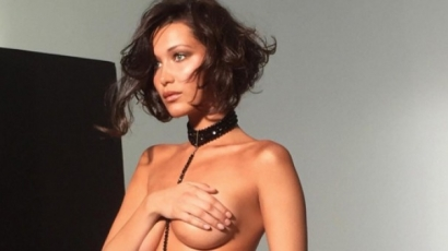 Topless fotóval hergeli az instagramozókat Bella Hadid