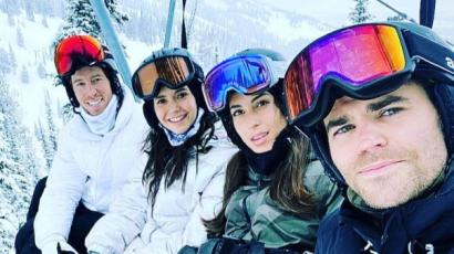 Vámpírnaplók duplarandi: Paul Wesley és Nina Dobrev közösen snowboardozott