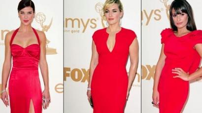 Vörösben pompázott az Emmy-gála