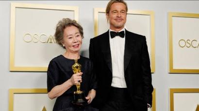 Yuh-Jung Yount Brad Pitt illatáról kérdezték, ez volt rá a válasza
