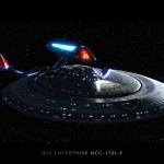 Enterprise-E :Remek kép egy remek hajóról.