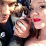 Ian and grummy Cat