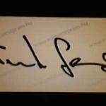 Gergő aláírása