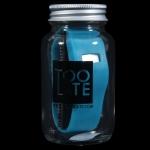 Kék Too Late üvegben